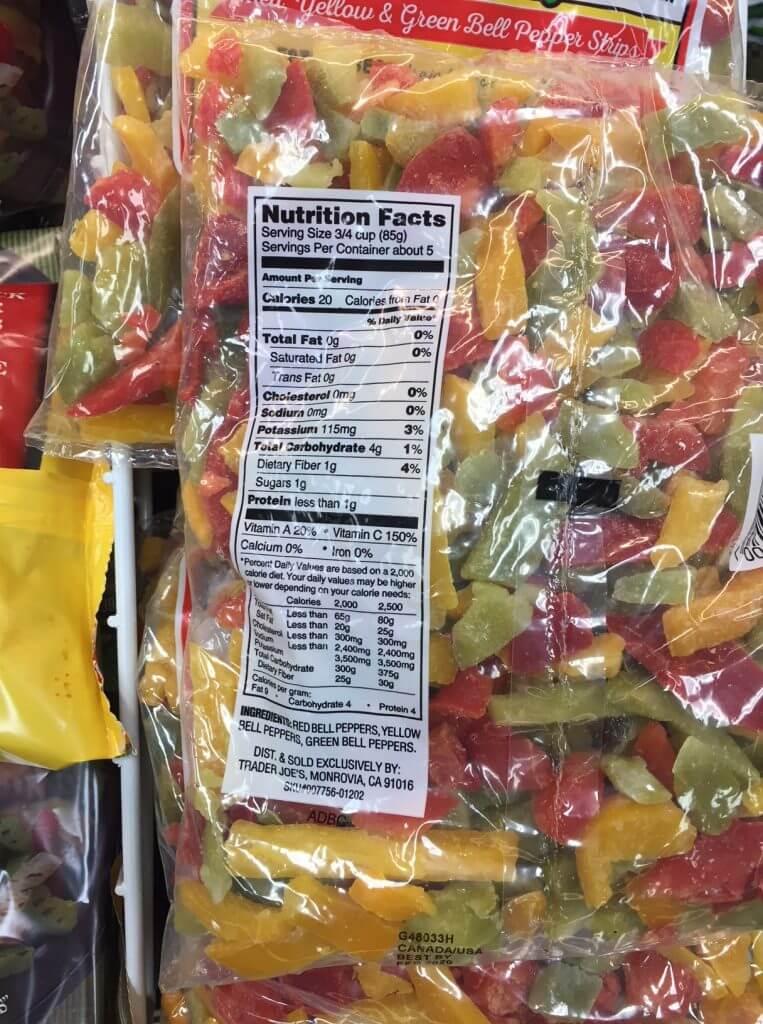 food labels kidney
